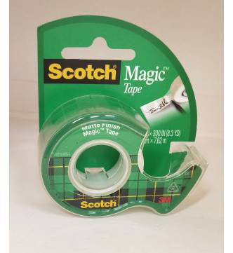 3M Magic Tape #105 with dispenser, 3/4 x 300 inches.