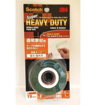 3M Super Heavy Duty Clear Double Sided Mounting Tape 3M KTD 19.
