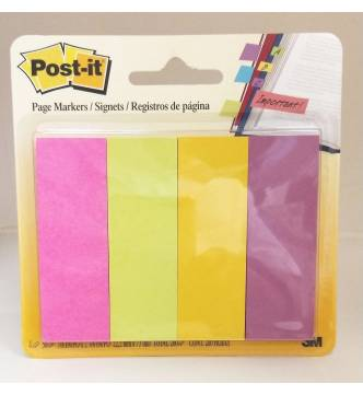 4 Color Post it Note Page Marker 2 in x 3 in.3M 671-4AU