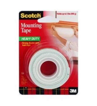 Indoor Mounting Tape 19mm x 2 meter. 3M 118.