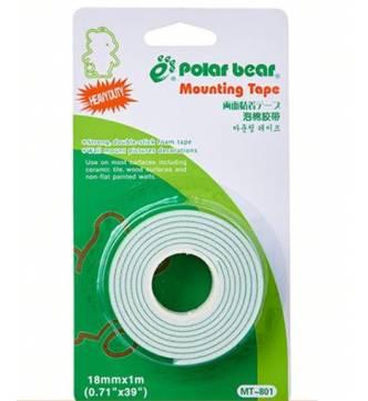 Indoor Mounting Tape 18mm x 1 meter. Polar Bear MT 801