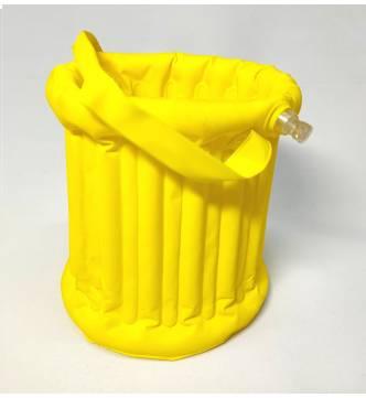 Brush washing bucket. Plastic bubble.