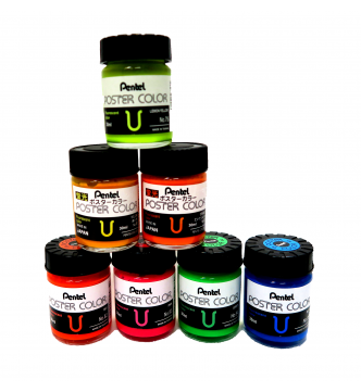 Fluorescent Poster color in 30 ml. bottle. Pental WPU2T79 to 85