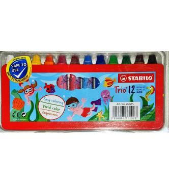 Stabilo Oil Pastel short sticks 12 color set 2612