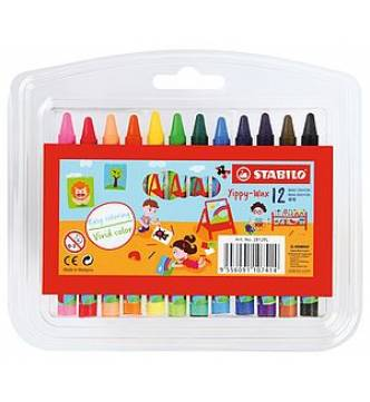 Stabilo Wax Crayon. Yippy 12 color 2812