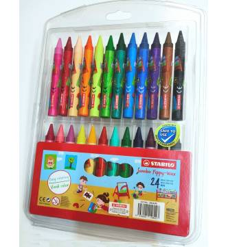 Stabilo Jumbo Wax Crayon. Yippy 24 color 2824J