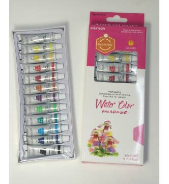 Water color 12 colors tube set.7706W