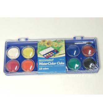 Water color 12 colors cake tray.WCC-12