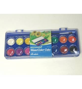 Water color 16 colors cake tray.WCC-16