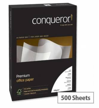 A4 100gms Brilliant White Conqueror Paper-500's