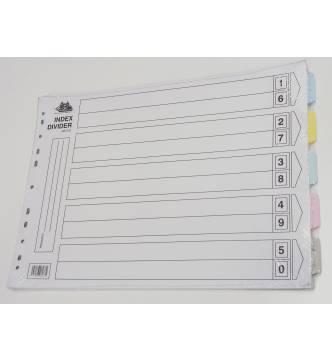 A3 5 Parts Paper Filing Divider, horizontal A3 5C