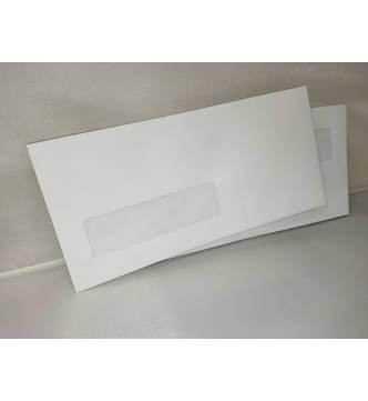 DL White Window Envelope, 110 x 220mm