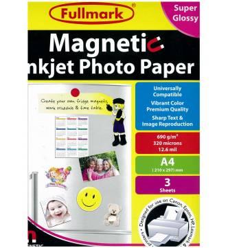 Magnetic Inkjet Photo Paper-Super Gloss Fullmark PPIMTG03