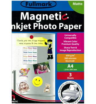 Magnetic Inkjet Photo Paper-A4 Matt Fullmark PPIMTM03