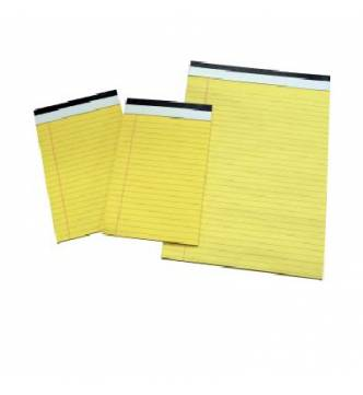 A4 Yellow Legal Pad.