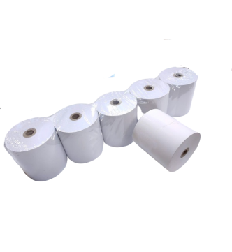 "Thermal Paper Roll 80mm (W) x 50mm (OD) x 12.5mm (1/2 ""Core)."