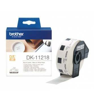 Brother DK11218 round 24mm label tape.