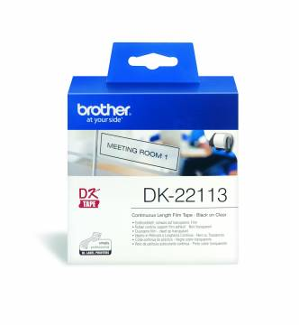 Brother DK22113 clear continuous film tape.