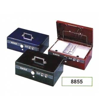 Cash Box, ELM 8855.Twin Dial & key lock with alarm bell.