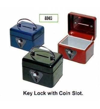 Cash Box,ELM 8803. Dial & key lock with coin tray.