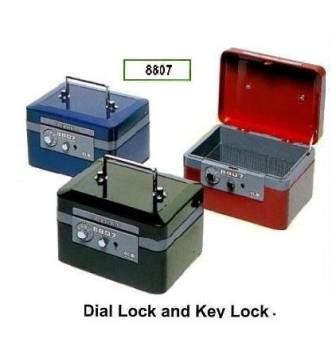 Cash Box, ELM 8807. Dial & key lock with coin tray.