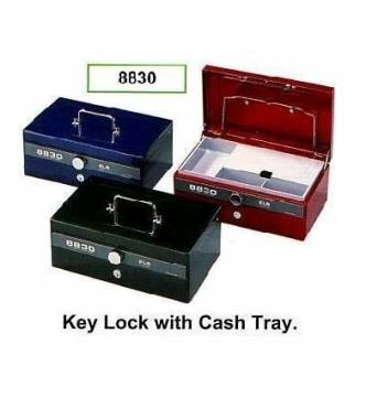 Cash Box, ELM 8830. Dial & key lock with two partitions coin tray.