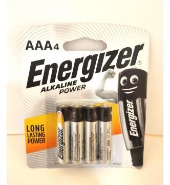 AAA Energiser Alkaline Battery.E92 BP-4