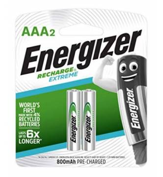 AAA Rechargeable 800mAh Battery Energizer Extreme NH12ERP2