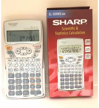 Scientific Calculator. Sharp El 509WS-WH. (DISCONTINUED)