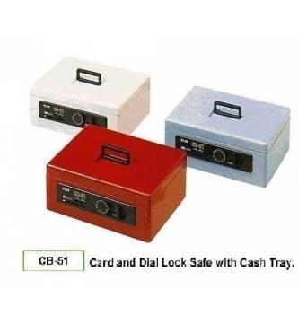 Cash Box ELM CB-51. Card lock with cash tray.