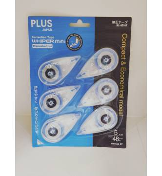 Dry Correction Tape disposible. Plus WH-505-6P