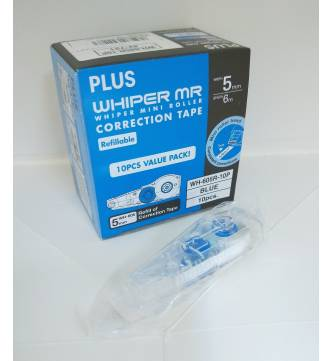 Dry Correction Tape Refill tape. Plus WH-605R-10P