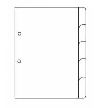 A4 5 Part White Card Divider.