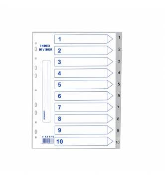 A4 1 to 10 PVC Filing Divider .