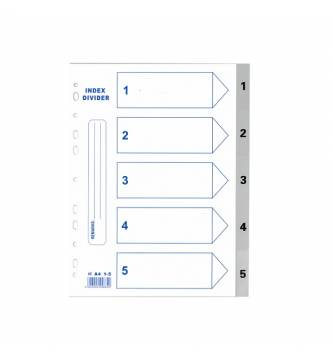 A4 1 to 5 PVC Filing Divider .