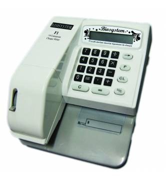 Biosystem Check Writer F1, 14 Currency,14 Digit.