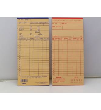Plain Time Card.ESPP 50's.