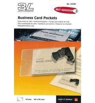 Self Adhesive Business card pockets 60 x 95 mm.3L 10106.