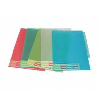 4 Section Indexed L Shape folder #357-A4.