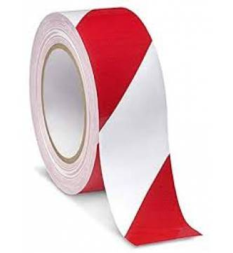 Floor marking tape 2 color striped PVC red and white