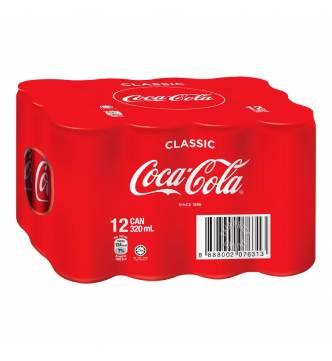 Coca-Cola Can Drink - Coke Classic, 12 x 320ml