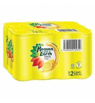 Heaven and Earth Ice Lemon Tea, 300ml x 12 slim canned drink