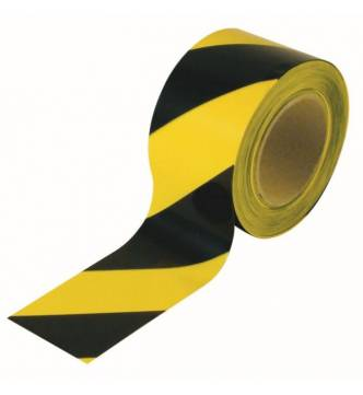 Floor marking tape 2 color striped PVC yellow and black