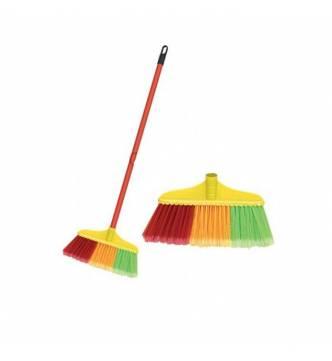 Nylon Broom w/plastic handle (Screw joint)