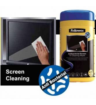 Antibacterial Screen Cleaning wipes Fellowes 2211701