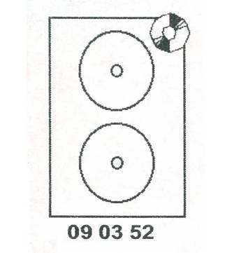 CD/DVD Label 117mm diameter.Mayspies 090352