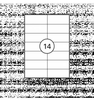 105 x 42.3 mm InkJet,Laser,Copier Labels.Mayspies 090019