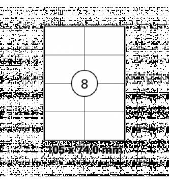105 x 74 mm InkJet,Laser,Copier Labels.Mayspies 090023