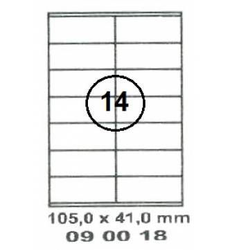 105 x 41 mm InkJet,Laser,Copier Labels.Mayspies 090018