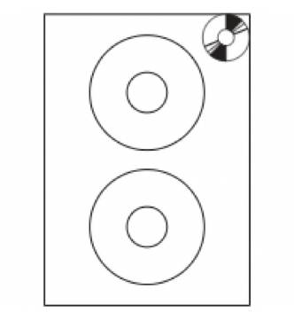 CD/DVD Label 117mm diameter Inkjet/Laser/Copier. Mayspies 090308